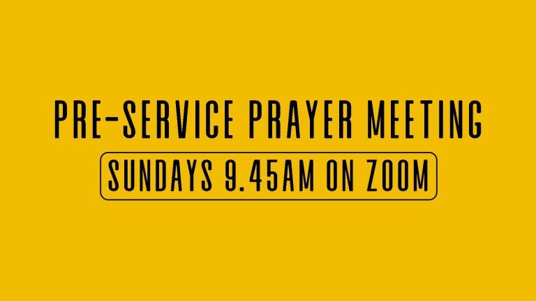 Pre service prayer meeting