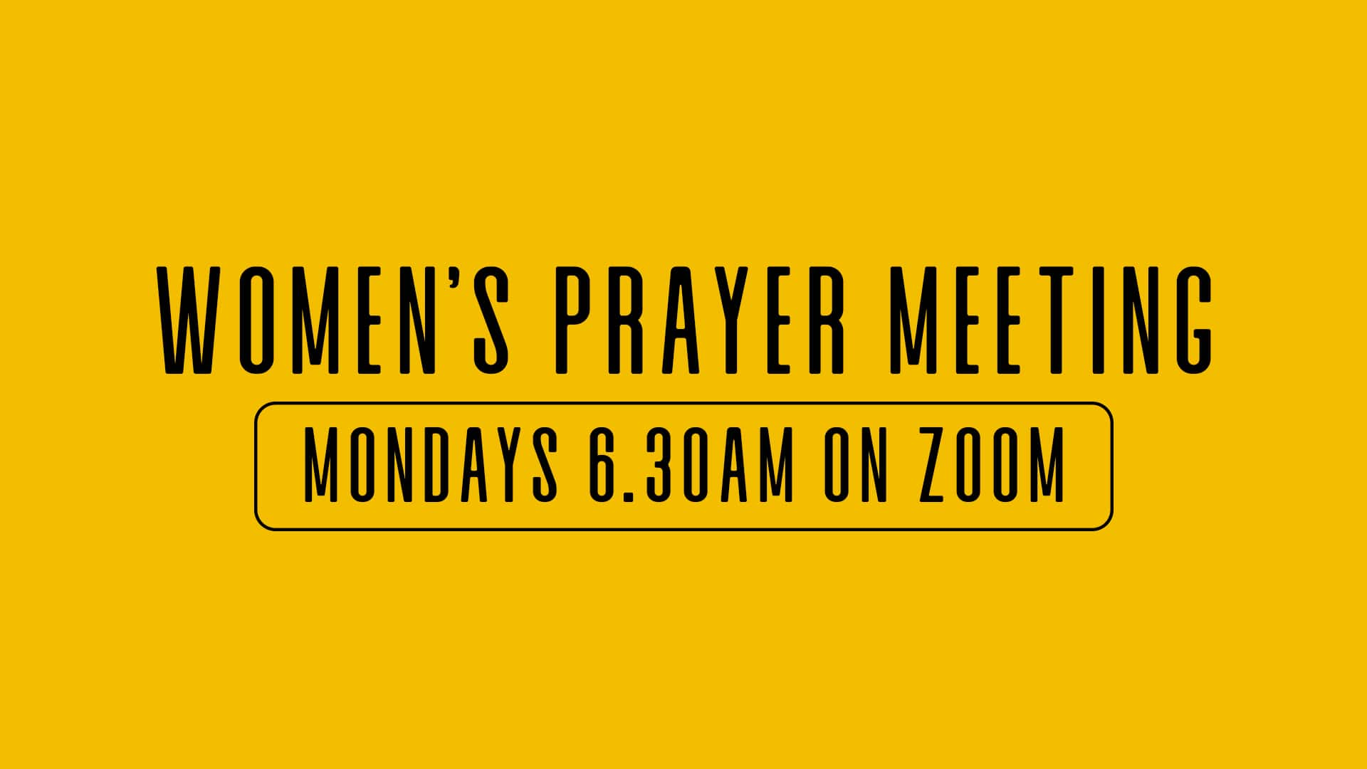 Women's prayer meeting